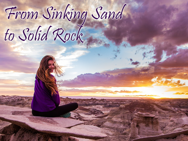 sinking sand solid rock image